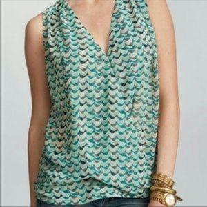 CAbi sleeveless blouse with bird pattern | Size M
